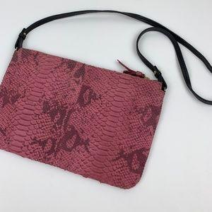 Zara Pink Snakeskin Crossbody Bag